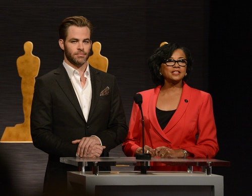 Chris Pine and Cheryl Boone Isaacs|Photo Credit: Reuters/達志影像