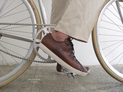 Quoc Pham's shoes are designed for working, cycling, and even dating.|Photo Credit: beyondertimes