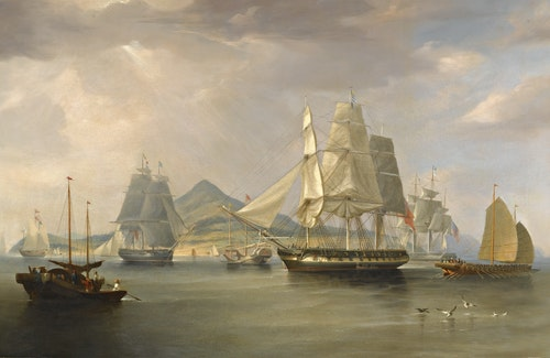 William_John_Huggins_-_The_opium_ships_a
